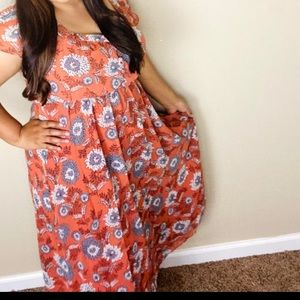 NWT Madewell button front midi floral desss